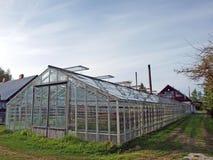 Glass greenhouse Stock Photos