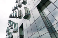 Glass greenish building Royalty Free Stock Photo