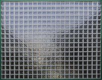 Glass grid. Architecture detail of a glass grid, suitable for a background or some kind or an illustration royalty free stock photos