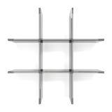 Glass grid shelfs Royalty Free Stock Photo