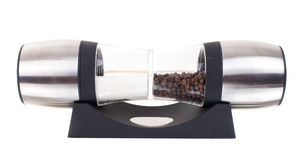 Glass grinder of pepper isolated on a white Stock Image