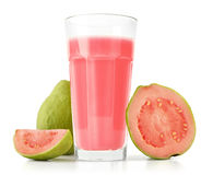 Glass of Guava Smoothie Stock Image