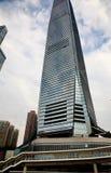Glass höghus i Hong Kong Arkivfoto