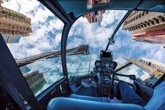 Glass höghushelikopter Arkivbild