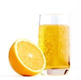 glass half lemonadeorange Fotografering för Bildbyråer