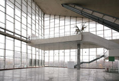 Glass hall with ladder Royalty Free Stock Photo