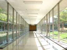 A glass hall way Royalty Free Stock Images