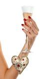 glass hand Royaltyfria Foton