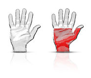 Glass hand Stock Photography