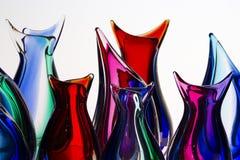 Glass handgjort för härlig färgrik murano i venice arkivbild