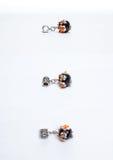 Glass handmade black beads Stock Photography