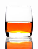 Glass of hard liquor Royalty Free Stock Photography