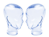 Glass Heads Royalty Free Stock Photography