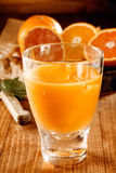 A glass with fresh orange and grapefruit juice Stock Images