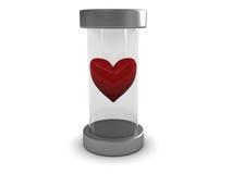 glass heart Arkivfoton