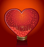 Glass heart royalty free stock image