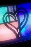 Glass Heart. A multi-colored stained glass heart Stock Images