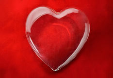 Glass heart Stock Images