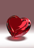 Glass_heart Stock Image