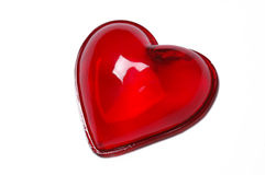 Glass heart Stock Image