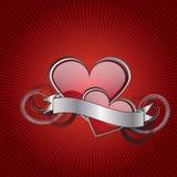 Glass heart Stock Photos