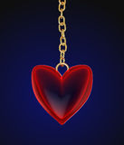 Glass heart amulet Stock Photo