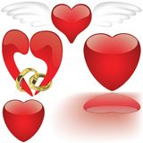 Glass Heart Collection Royalty Free Stock Images