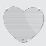 Glass heart frame Royalty Free Stock Photo