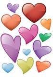 Glass heart icon Royalty Free Stock Photo