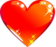 Glass heart icon Stock Image