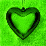 Glass heart pendent Stock Image