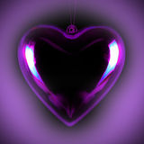 Glass heart pendent Royalty Free Stock Photo