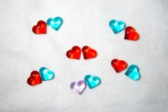 Glass heart for San Valentin, lovers, weddings royalty free stock photography