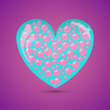 Glass Heart With Soap Bubbles Royalty Free Stock Photography