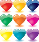 Glass hearts. For Valentine`s day,  additional Royalty Free Stock Images