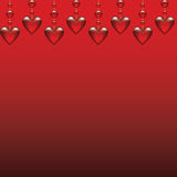 Glass hearts. Valentines card with glass hearts vector illustration