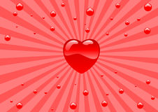 Glass hearts Stock Photo