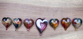 Glass hearts Royalty Free Stock Images
