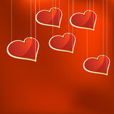 Glass hearts template. + EPS8. Vector file Royalty Free Illustration