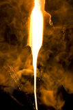 glass heated stråle Arkivbild