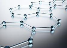 glass heptahedrons Royaltyfri Bild