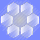 Glass hexagon as a honeycomb or flower. Vector illustration background Royalty Free Stock Photo