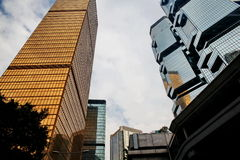 Glass high-rise buildings in Hong Kong. China Royalty Free Stock Photo