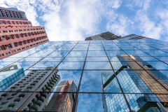 Glass high-rise reflects Royalty Free Stock Photography