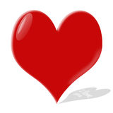 glass hjärta Royaltyfri Foto