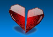 glass hjärta arkivfoto