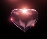 glass hjärta Royaltyfri Bild