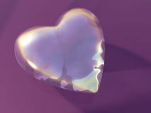 glass hjärta Arkivbild