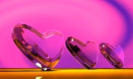 glass hjärta Arkivfoton