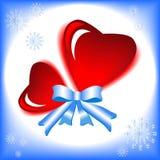 glass hjärta Arkivbilder